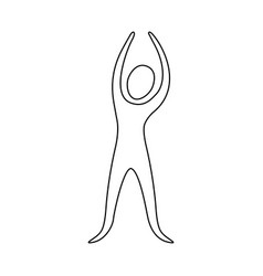 figure person stretching icon vector image vector image
