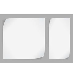 White paper stickers over gray background vector image vector image