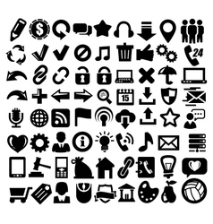 324 web icons vector image