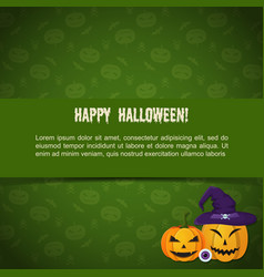 abstract halloween party greeting template vector image
