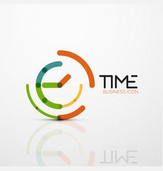 abstract logo idea time concept or clock vector image