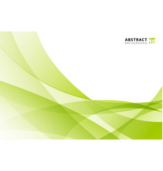 Abstract modern light green wave element on white vector
