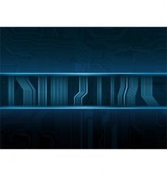 Abstract technological style banner vector