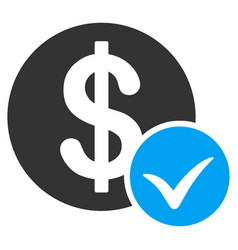 accept payment flat icon vector image