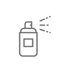 Aerosol spray bottle spray can line icon vector