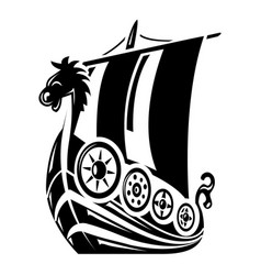 Ancient ship icon simple style vector
