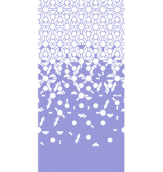 Arabesque violet seamless border geometric vector