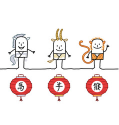 Astrology chinese signs 3 vector