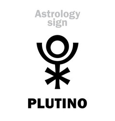 astrology plutino little planet vector image
