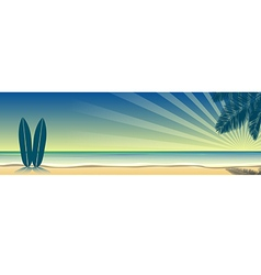 beach banner3 vector image
