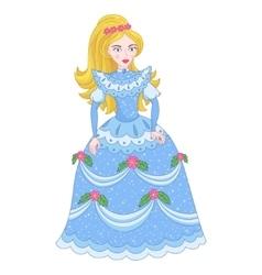 Beautiful golden blonde princess vector
