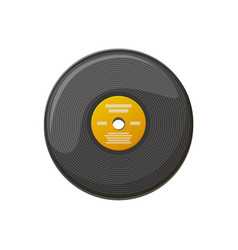 black plate for playing music vinyl record vector image