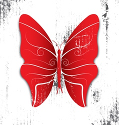 Butterfly with grunge background vector