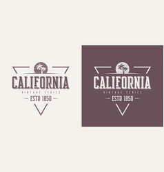 California state textured vintage t-shirt vector