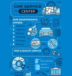 Car diagnostic and repair service center vector