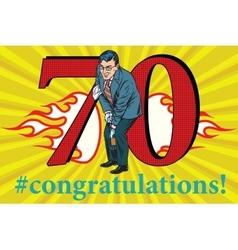 Congratulations 70 anniversary event celebration vector