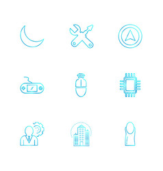 Crecent game console ic gear internet vector