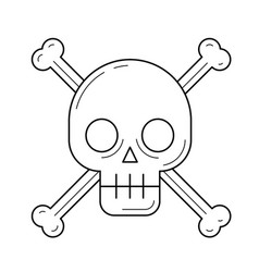 danger sign line icon vector image