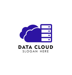 data cloud logo design template server cloud logo vector image