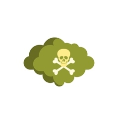 Deadly air icon flat style vector