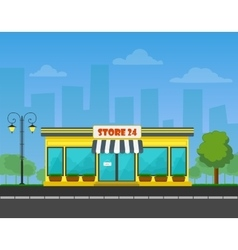 detailed Shop or store or market on vector image