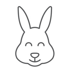 easter bunny thin line icon animal and easter vector image
