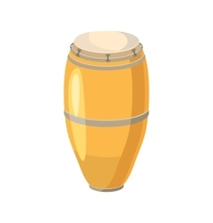 Ethnic drum icon cartoon style vector image