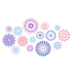 festive fireworks celebration party firework vector image
