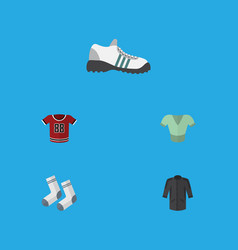 flat icon dress set of foot textile sneakers vector image
