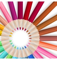 Frame with color pencils EPS 10 vector image vector image
