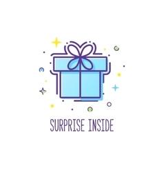 Gift box logo vector image