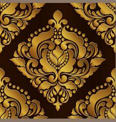 golden royal floral pattern vector image