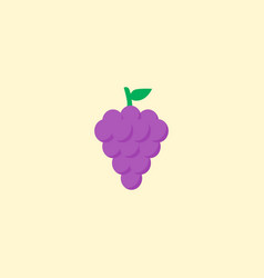 grape icon flat element of vector image
