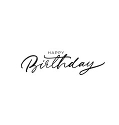 happy birthday greeting card with lettering vector image