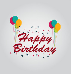 happy birthday template design vector image