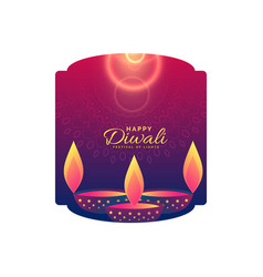 Happy diwali celebration holiday greeting design vector