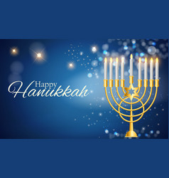 happy hanukkah jewish holiday background vector image