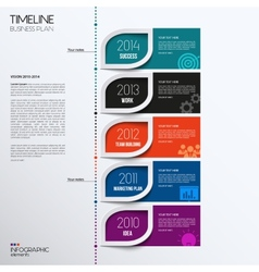 Infographic timeline showing business plan vector