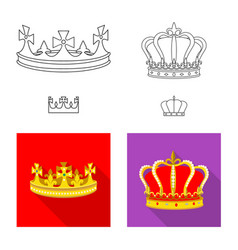 Isolated object medieval and nobility sign vector