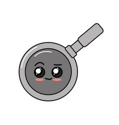 Kawaii cute tender skillet pan vector