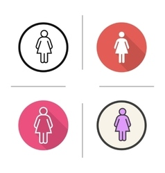 Ladies toilet sign icons vector image