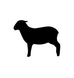 lamb silhouette vector image