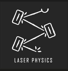 Laser physics chalk icon optics branch quantum vector