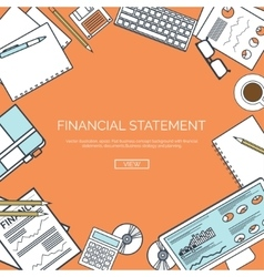 Lined Financial statement vector