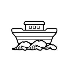 logo noahs ark biblical vector image