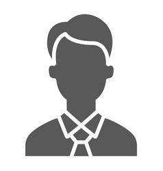 manager glyph icon office and work vector image