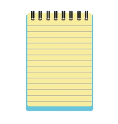 notepad notebook vector image
