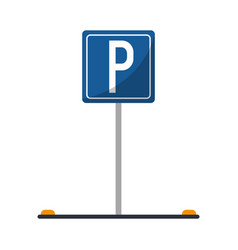 Parking sign road street vehicle vector