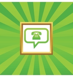 Phone message picture icon vector
