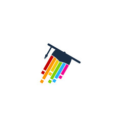 Pixel art education logo icon design vector
